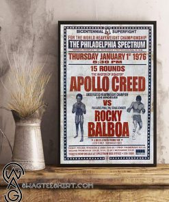 Bicentennial superfight the philadelphia spectrum rocky balboa vs apollo creed poster
