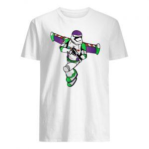 Buzz lightyear stormtrooper star wars men's shirt