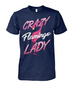 Crazy flamingo lady unisex cotton tee