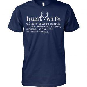 Deer season hunt wife definition unisex cotton tee