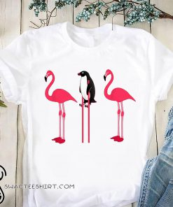 Flamingos and penguins shirt