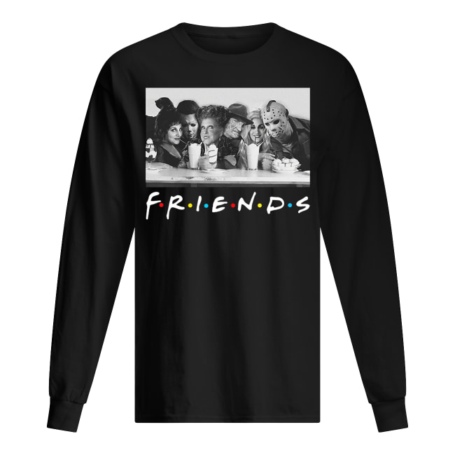 Friends sanderson sisters and freddy krueger jason voorhees michael myers long sleeved