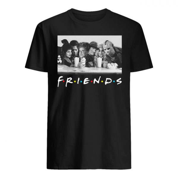 Friends sanderson sisters and freddy krueger jason voorhees michael myers men's shirt