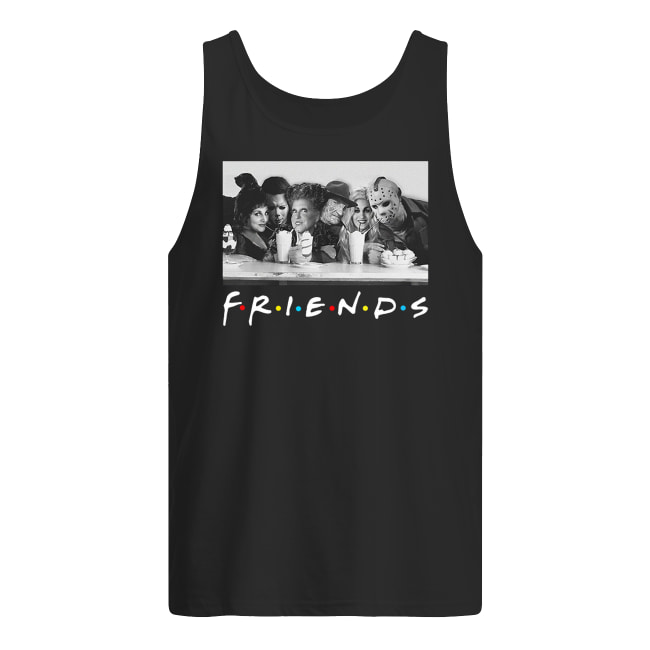 Friends sanderson sisters and freddy krueger jason voorhees michael myers men's tank top