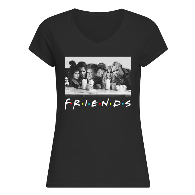 Friends sanderson sisters and freddy krueger jason voorhees michael myers women's v-neck