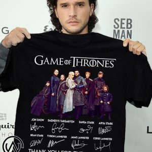 Game of thrones thank you for the memories signatures shirt