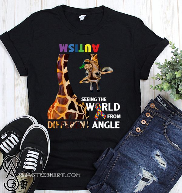 Giraffe autism seeing the world from different angle shirt