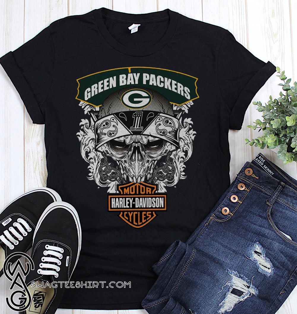 best website bb3ba 7745d Green bay packers harley-davidson motorcycles shirt and hoodie