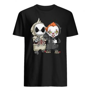 Halloween jack skellington and pennywise men's shirt