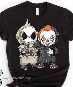 Halloween jack skellington and pennywise shirt