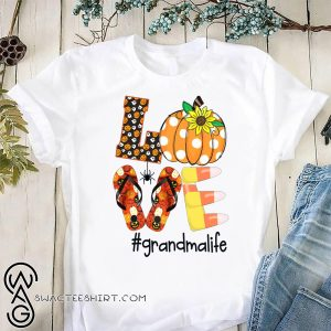 Halloween sunflower love grandma life shirt