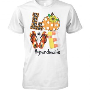 Halloween sunflower love grandma life unisex cotton tee