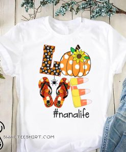 Halloween sunflower love nana life shirt