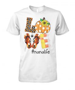 Halloween sunflower love nana life unisex cotton tee