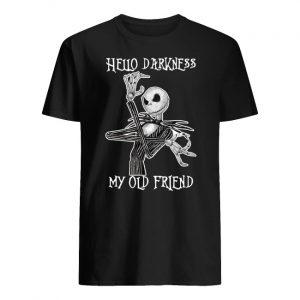 Jack skellington hello darkness my old friend men's shirt