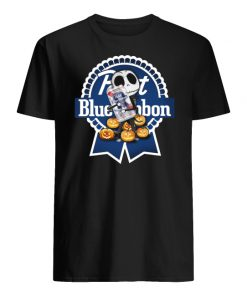 Jack skellington hug pabst blue ribbon pumpkin men's shirt