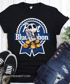 Jack skellington hug pabst blue ribbon pumpkin shirt