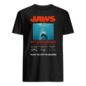 Jaws 45th anniversary 1975-2020 signatures thank you for the memories men's shirt