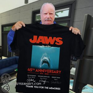 Jaws 45th anniversary 1975-2020 signatures thank you for the memories shirt