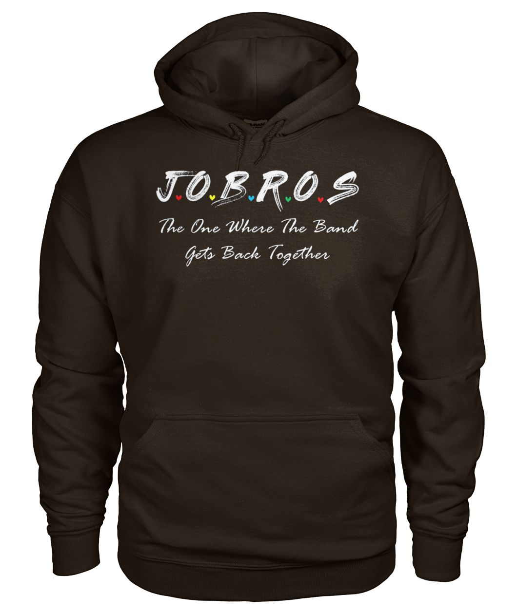 Jobros the one where the band get back together friends tv show gildan hoodie