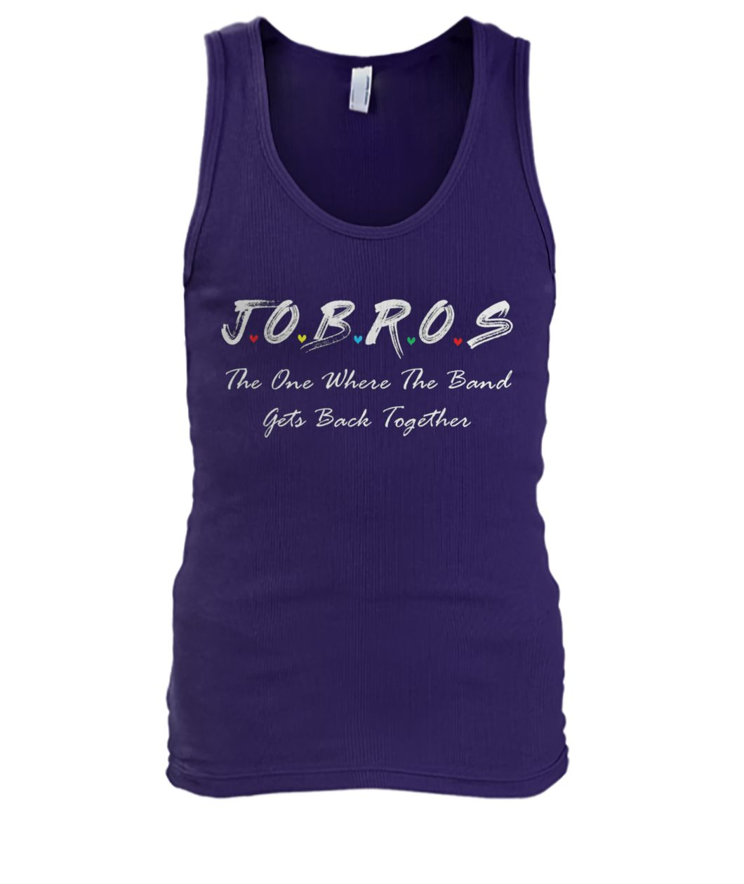 Jobros the one where the band get back together friends tv show men's tank top