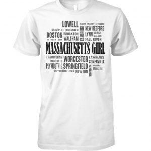 Massachusetts girl and city unisex cotton tee