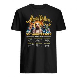 Monty python 50th anniversary 1969-2019 signatures men's shirt