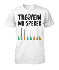 Paw dog the vein whisperer unisex cotton tee
