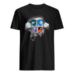 Philadelphia eagles philadelphia 76ers philadelphia phillies philadelphia flyers inside me men's shirt