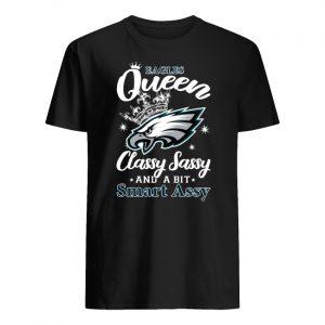 Philadelphia eagles queen classy sassy and a bit smart assy men's shirt