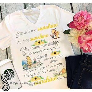 Pooh and piglet you are my sunshine my only sunshine shirt