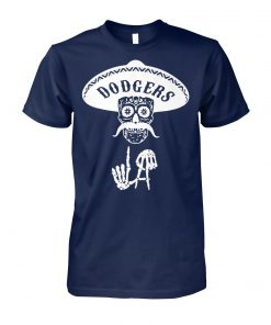 Skull los angeles dodgers unisex cotton tee