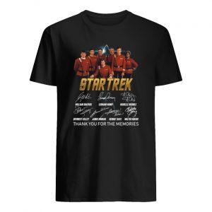 Star trek thank you for the memories signatures men's shirt