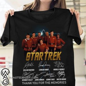 Star trek thank you for the memories signatures shirt