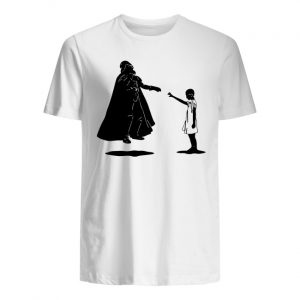 Stranger things eleven girl vs star wars darth vader men's shirt