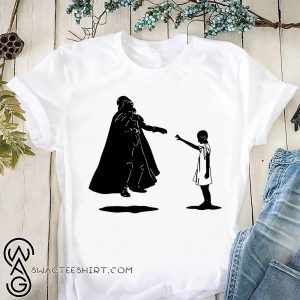 Stranger things eleven girl vs star wars darth vader shirt