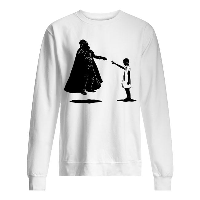 Stranger things eleven girl vs star wars darth vader sweatshirt