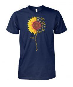 Sunflower my heart my hero my mechanic unisex cotton tee