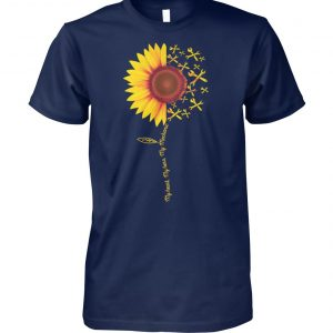 Sunflower my heart my hero my mechanic unisex cotton tee