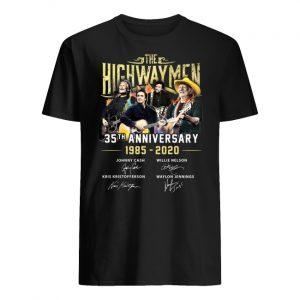The highwaymen 35th anniversary 1985-2020 signature men's shirt