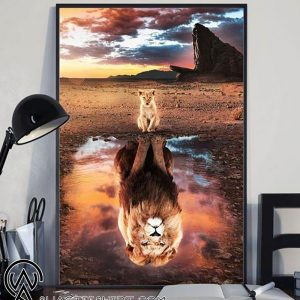 The lion king reflection poster