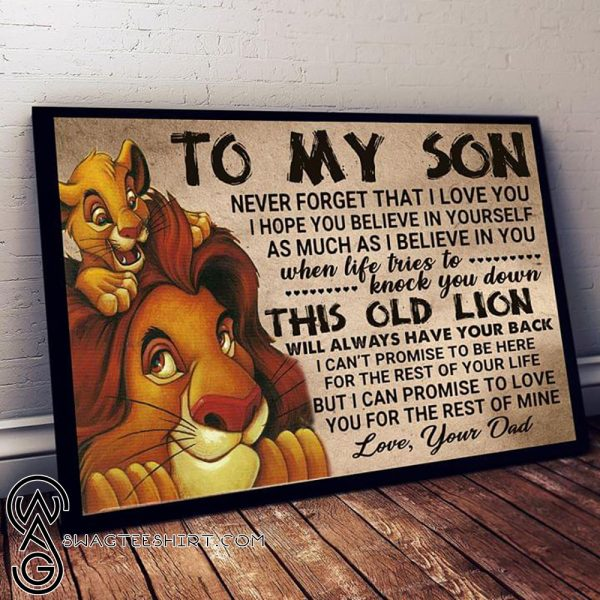 The lion king to my son never forget that I love you poster