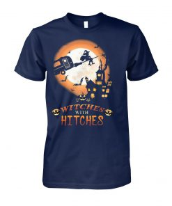 Witches with hitches halloween unisex cotton tee