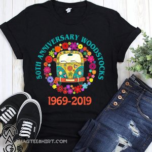 Woodstocks 50th anniversary 1969-2019 peace love shirt