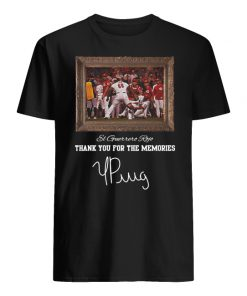 Yasiel puig el guerrero rojo thank you for the memories signature men's shirt