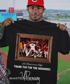Yasiel puig el guerrero rojo thank you for the memories signature shirt