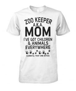 Zoo keeper aka mom I've got children and animals everywhere unisex cotton tee