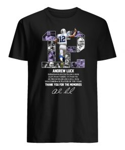 12 andrew luck thank you for the memories signature men's shirt