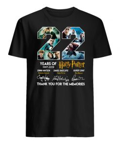 22 years of harry potter 1997-2019 thank you for the memories signatures men's shirt