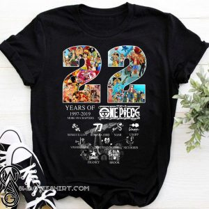 22 years of one piece 1997-2019 more 950 chapters signatures shirt
